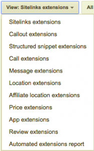 List of AdWords Ad Extensions